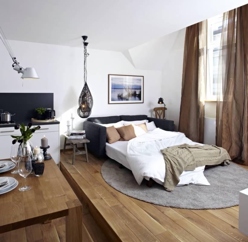 stylisch und cool unsere design wohnung k nigsschlaf sieben unvergleichliche ferienwohnungen. Black Bedroom Furniture Sets. Home Design Ideas